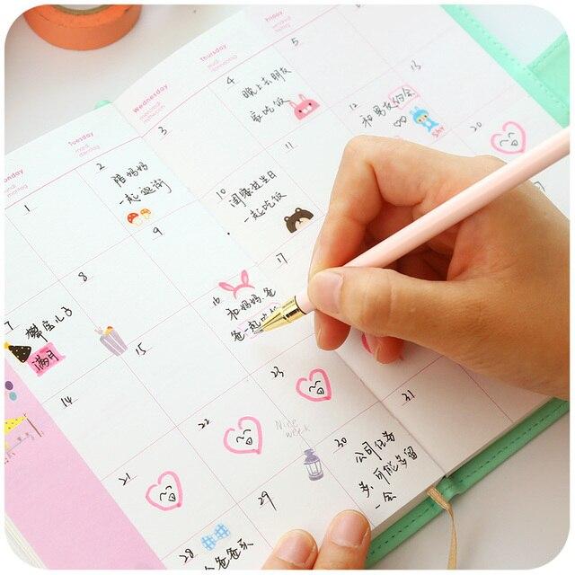 Neue Ankunft Wochenplaner Süße Notebook Kreative Student Zeitplan ...