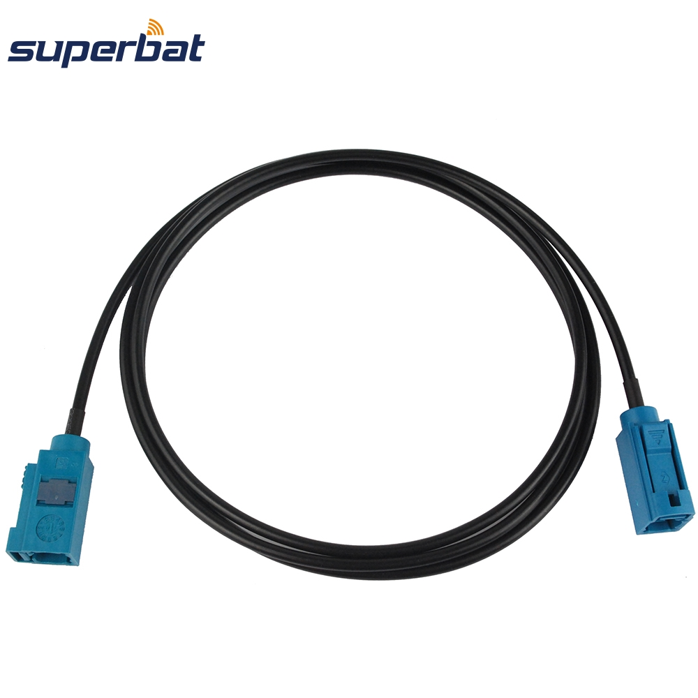 Superbat Radio Antenna Extension Coaxial Cable Straight Fakra Z Female Jack To Female Connector Pigtail Cable RG174 2m