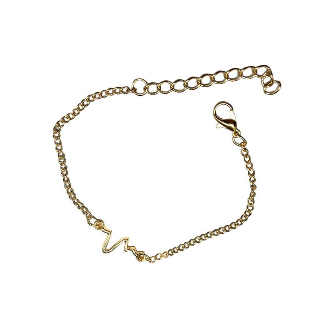 2019 pulsera de mujer encantadora corazón onda Alerta Médica pulseras de encanto para Mujeres Hombres inspirada joyería regalo