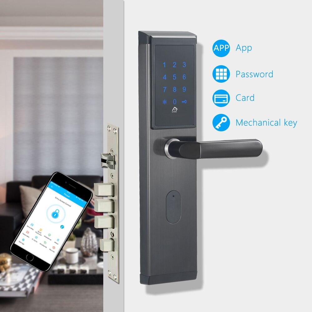 Электронный дверной замок, приложение wifi умный сенсорный экран замок, цифровой код клавиатуры Deadbolt для дома отель квартира
