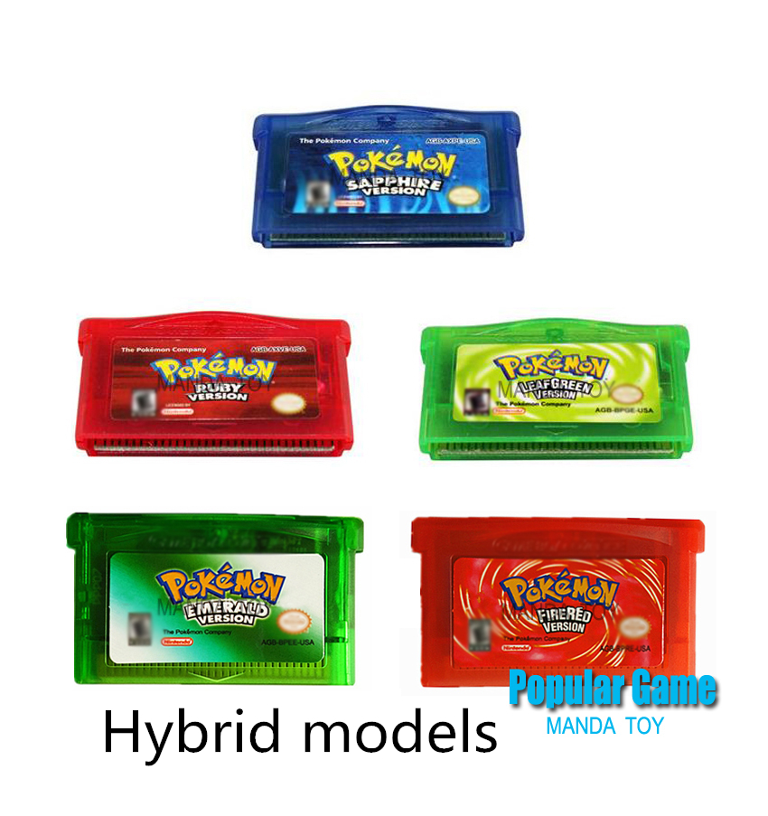 10pcs/lot GBA GAame Poke Collective Edition Video Game Cartridge Console Card For Game Boy Advance English Version
