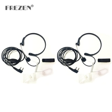 2-PCS Throat Microphone Mic PTT Laryngofon Air Tube Headset Earpiece For Baofeng Walkie Talkie CB Radio UV-5R UV B5 GT-3TP UV-5X
