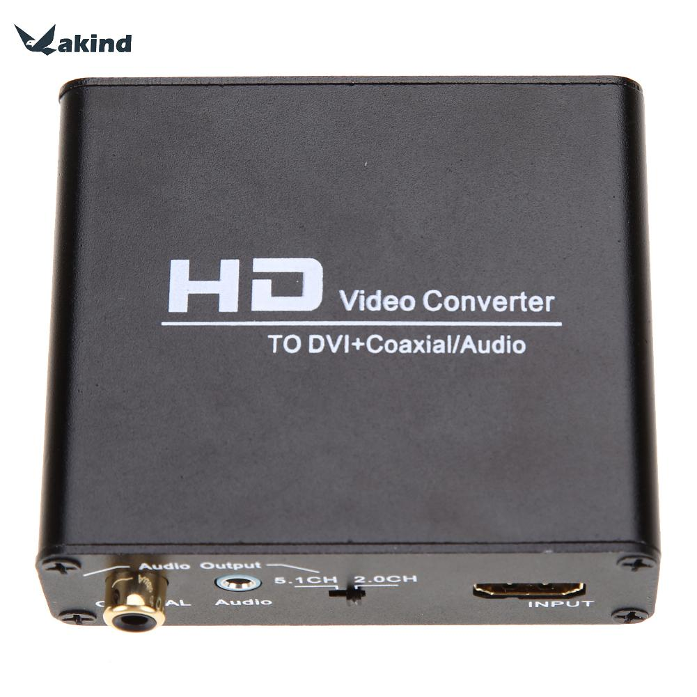 High Quality HDMI to DVI Cable Converter+ Coaxial Stereo Audio Output with Power Supply for PS3 Blue ray DVD 80 channels hdmi to dvb t modulator hdmi extender over coaxial