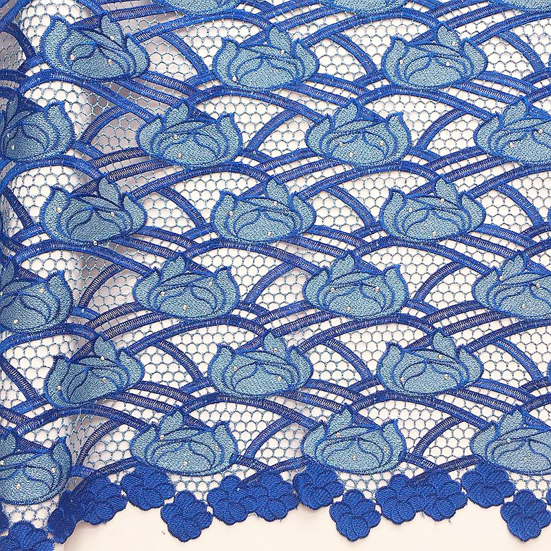 Embroidery Blue African Cord Laces For Party Lilac Guipure Nigerian Latest Lace Fabric 2018 High Quality Nigeria Lace Fabric in Lace from Home Garden