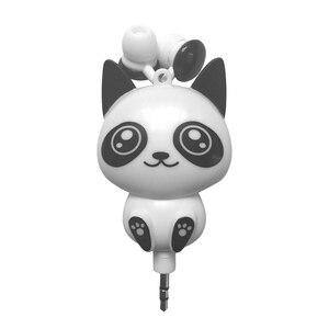 Image 4 - Kebidu 3.5mm 유선 귀여운 팬더 개폐식 이어폰 이어폰 스마트 폰용 헤드폰 헤드셋 어린이를위한 MP3 생일 선물