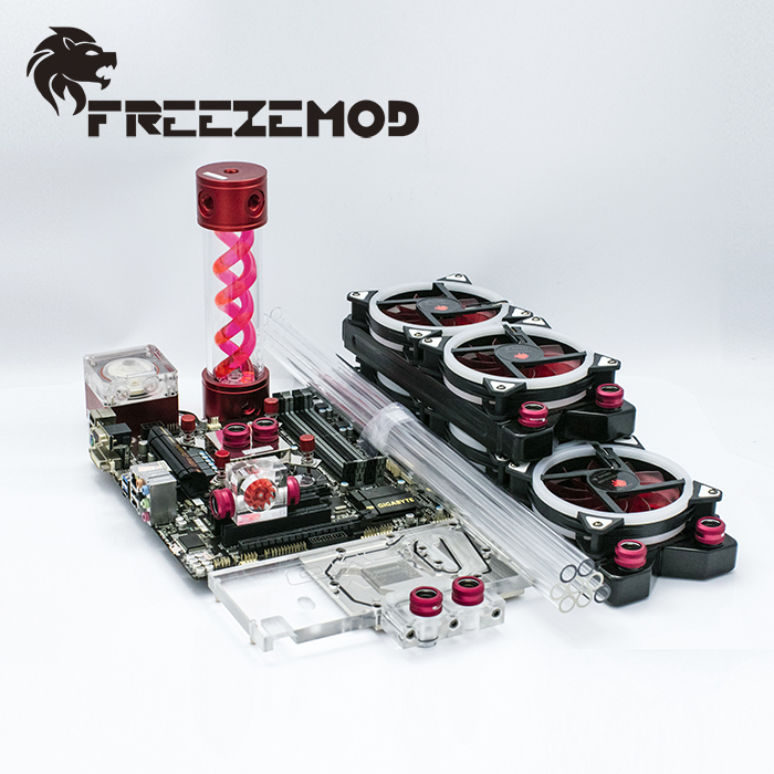 FREEZEMOD computer water cooling system Set professional set 4 for rigid tube FREEZEMOD PKH4