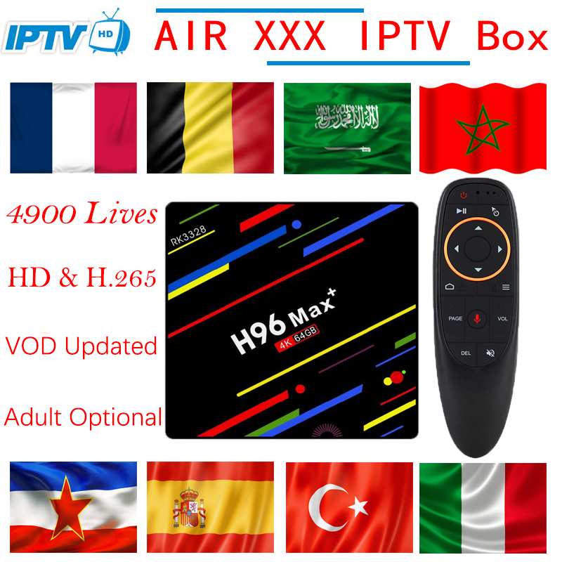 H96 MAX Plus 4G32G 4G64G Android 8 1 TV Box with 4900 Live VOD XXX France
