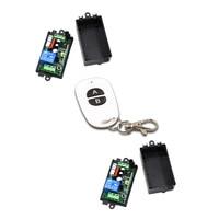 Safe AC220V 110V 1 CH 1CH RF Wireless Remote Control Switch System 2CH Transmitter 2pcs Receivers