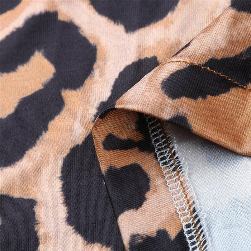 Leopard Dress Print 2018 Women Sexy Half Sleeve Midi Swing Dresses Lady Bodycon Party Club Hot Evening Vestdos #F#40OC164