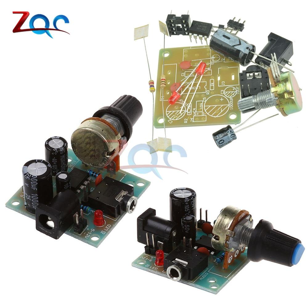 DIY Kit LM386 Super Mini Audio Amplifier DIY Kit Suite Trousse LM386 Amplificador Module Board 3.5mm 3-12V Beyond TDA2030