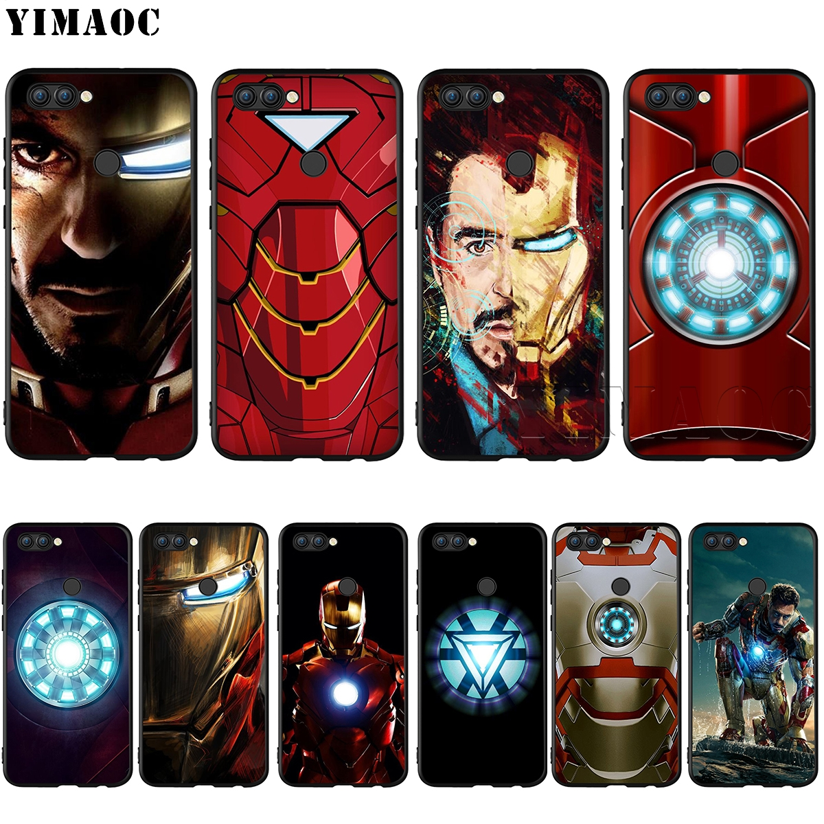 YIMAOC Marvel Iron Man Case for Huawei Mate 30 20 Honor Y7 7a 7c 8c 8x 9 10 Nova 3i 3 Lite Pro Y6 2018 P30 P smart image