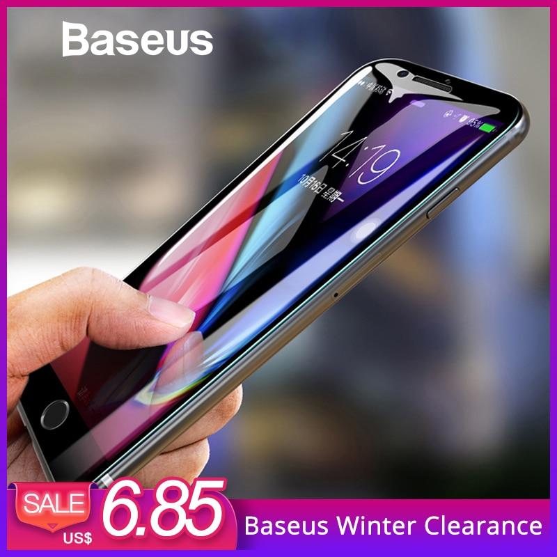 Baseus 5D Protector de pantalla para iPhone 7 de 8 de vidrio templado de pantalla completa Anti-Luz Azul cristal frontal para iPhone 7 Plus 8 además de vidrio