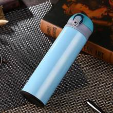 New Design Double Wall Stainless Steel Vacuum Flasks 500ml Thermos Cup Coffee Tea Milk Travel Mug Thermo Bottle Gifts Thermocup