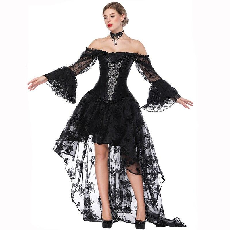 Vintage Corset robes Burlesque Costume Sexy Corsets et Bustiers gothique victorien robe Steampunk vêtements Korsett pour les femmes
