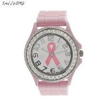 SmileOMG Women's Fashion  Watch Girl Ladies Crystal Cancer Quartz Stainless Steel Analog Silicone Band Wrist Watch,Sep 2