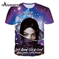 XSCAPE Raisevern Nueva 3D Camiseta Michael Jackson Impresión Hombres mujeres de La Manera 3d Camiseta de Manga Corta de Verano Tee Top Plus tamaño