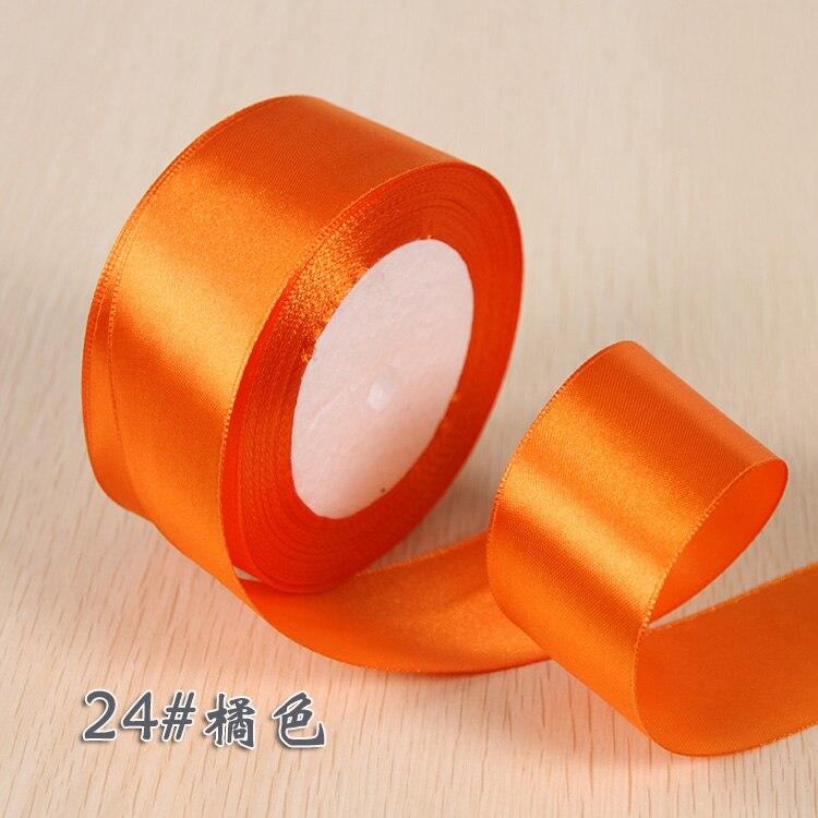 6 мм 1 см 1,5 см 2 см 2,5 см 4 5 см атласными лентами DIY искусственный шелк розы Ремесла поставок швейной фурнитуры Скрапбукинг материал - Цвет: NO 24 Orange