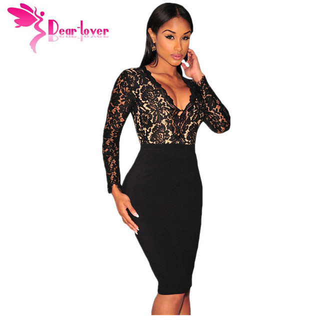 Dear Lover Vestido De Renda Frauen Kleider Winter Party Black Lace ...