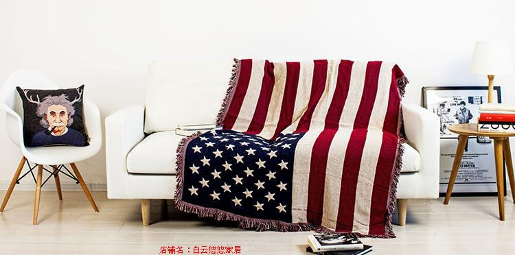 ФОТО Restore ancient ways do old union jack cotton fringe line blanket British flag double-sided blanket  blanket bed pad 230x250cm