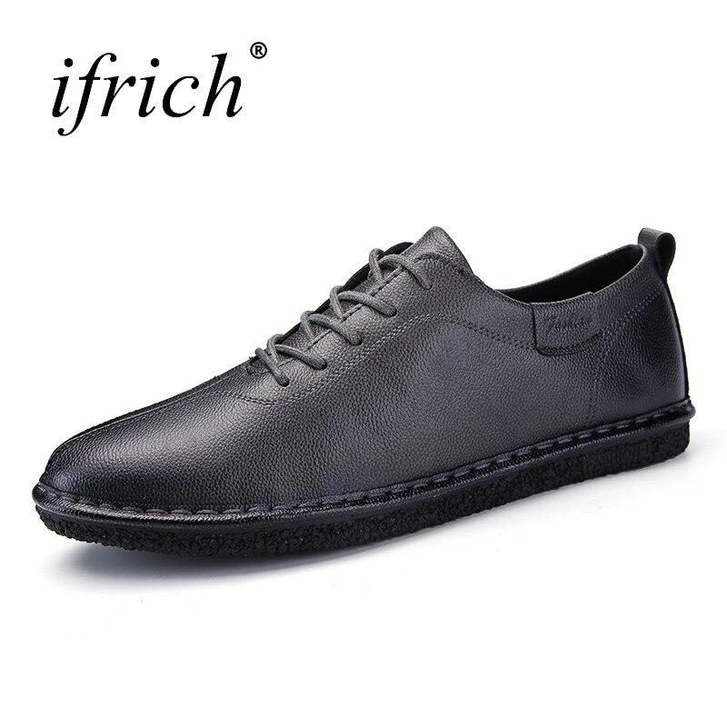 2017 New Arrival Men Shoes Luxury Brand Summer Autumn Male Footwear Lace Up Low Top Shoes Black Gray Mens Platform Shoes