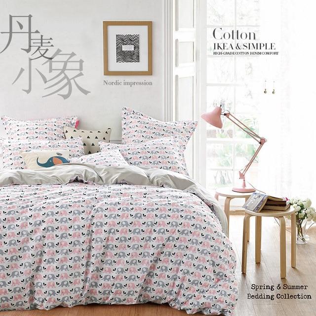 acheter 100 coton style nordique textiles de maison ensembles de literie roi. Black Bedroom Furniture Sets. Home Design Ideas