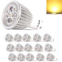 15X LED Bulb đèn GU10 AC220V 5 V Wát Led Spotlight Đèn Warm/Cool LED Trắng Bulbs Ánh Sáng Nhôm Với An Toàn Glass Bìa