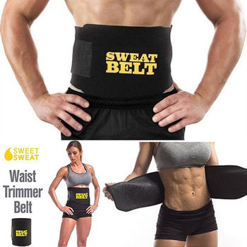 2018 Brand New Sweat Waist Trimmer Belt Wrap Stomach Slimming Fat Burn Weight Loss Body Shaper