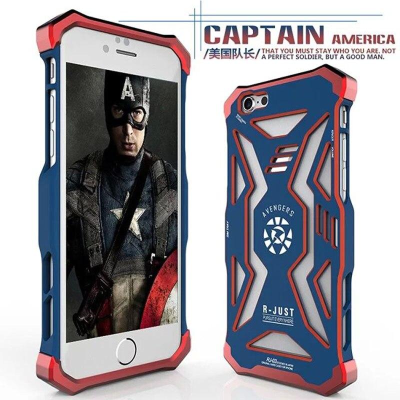 imágenes para Nueva Versión 3D Fresco Héroe Avengers Iron Man Ironman Armor Cubierta de la Caja de Metal duro Para el iphone 6 plus/6 s plus Superhero R-sólo