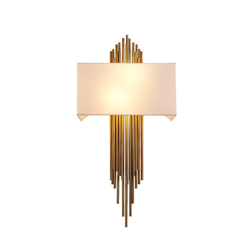 Пост современный Дизайн настенный светильник лампы scone для гостиницы/бар/кафе украшение дома моды Освещение золото Алюминий трубки