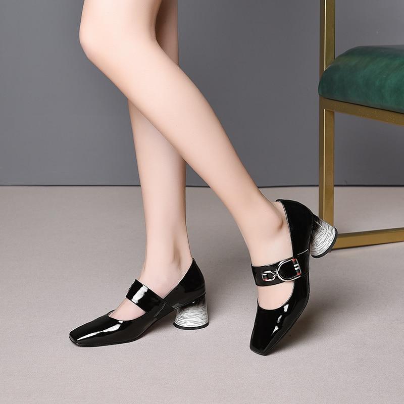 rose 34 Rose Hauts 6 Verni Talons Chaussures Indaco Femmes Noir Cm Cuir Femme En 41 Pompes PqFZp