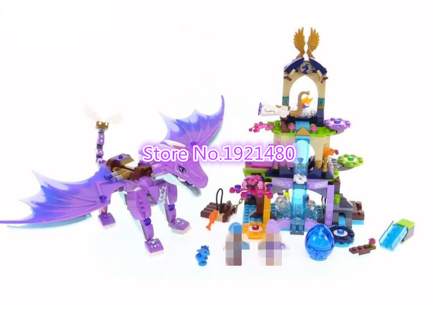 AIBOULLY 10549 Friends Elves The Water Dragon Model Building Kits Blocks Bricks Toys Girl Toys Compatible with 41172 aiboully city 7014 7017 model the louvre in paris rome fontana di trevi building blocks sets bricks toys compatible with gift