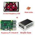 Raspberry Raspberry Pi 3 Modelo B Junta + 3.5 TFT Pi3 LCD Táctil Pantalla + Caso disipadores de Calor Para Raspbery Pi 3 Kit de Acrílico