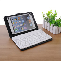 Universal Bluetooth Keyboard With Leather Sheath For IPad IPhone Android Devices And Windows Tablets Black White