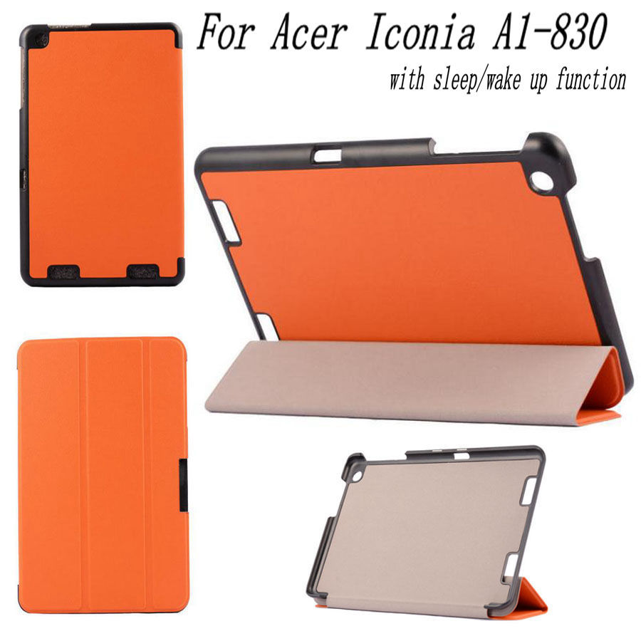 3 in 1 For Acer Iconia A1-830 Stand Folding Case Cover Flip Leather For Acer A1 830 7.9 inch Tablet + OTG + Stylus Pen