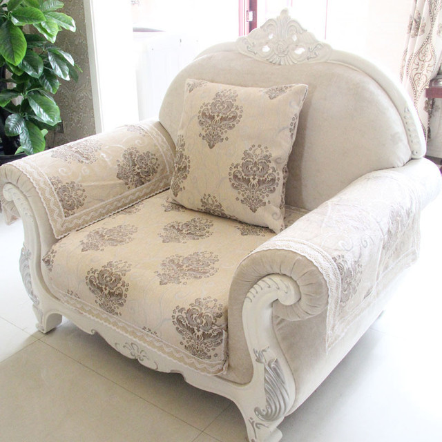 New Chenille Sofa Cover Towel Jacquard Slipcover Resistant Seat Couch For Living Room Decor