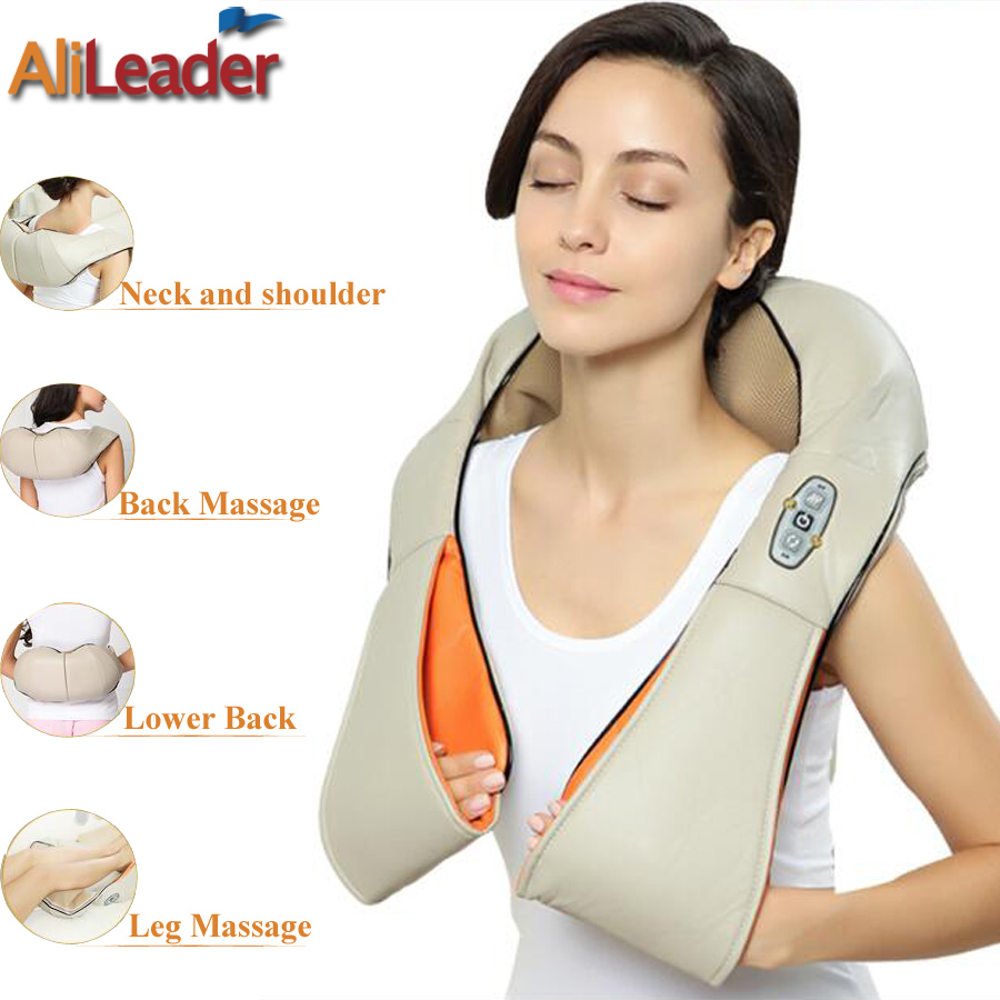 Car Home Massage Pillow With Heat For Back Pain Relief, Electric Foot Leg Shoulder Neck Massager Shiatsu Kneading Massage Tools 2016 new arrival kneading massager with heat great at home spa machine for neck back shoulder