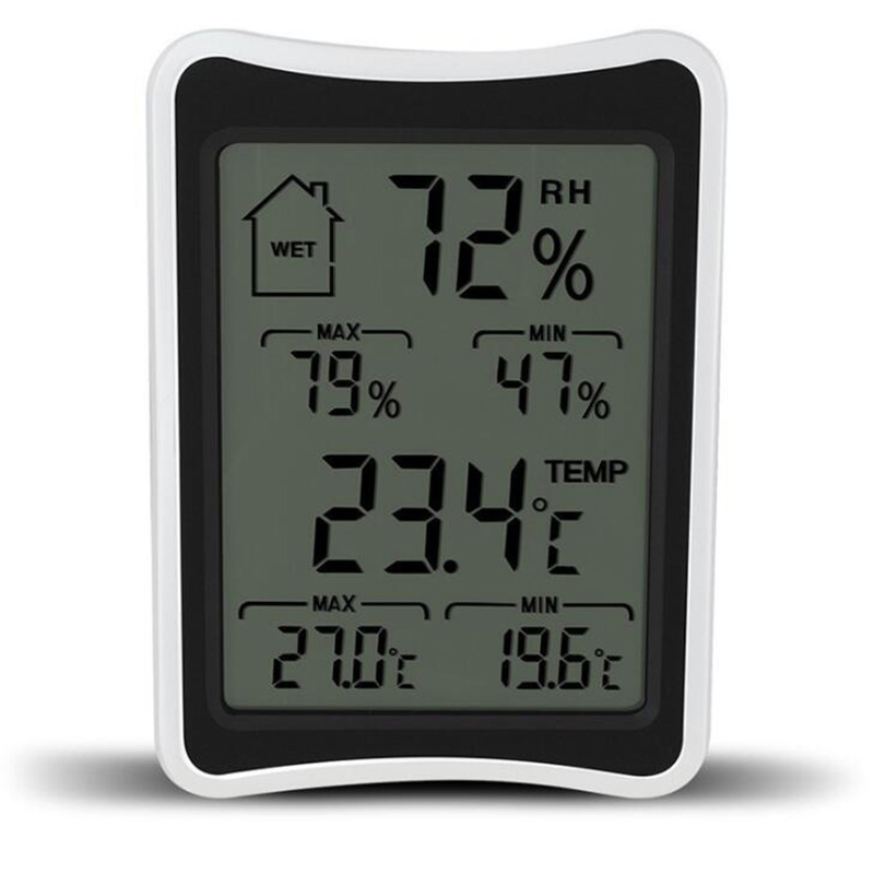 BEYLSION Digital Temperature Humidity Thermometer Hygrometer Electronic Thermometer Humidity Monitor For Plant Grow Lamp Tent (1)