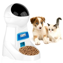 1pc Automatic Pet Food Feeder With Voice Recording Pets food Bowl For Medium Small Dog Cat LCD Screen Dispensers 4 times One Day недорого