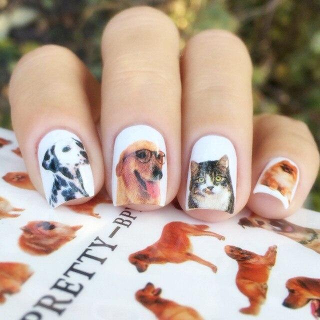 BORN PRETTY 2 Patterns/Sheet Cute Dog Nail Art Water Decals Transfer  Sticker BPY20 - BORN PRETTY 2 Patterns/Sheet Cute Dog Nail Art Water Decals Transfer