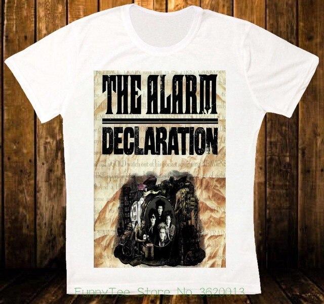 c9273eeac57 Declaration The Alarm 84 Rock New Wave Retro Vintage Hipster Unisex T-shirt  1335
