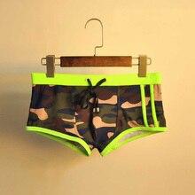 Men's Shorts Camouflage trouse Underpants Swimwear Push-Up Man Swimsuit  low waist sexy Swim sport beach Male Swimming Trunks