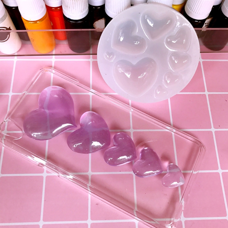 Heart Shapes Silicone Mold Jewelry Model Mould Tools Decoration Jewels Tackles-m15