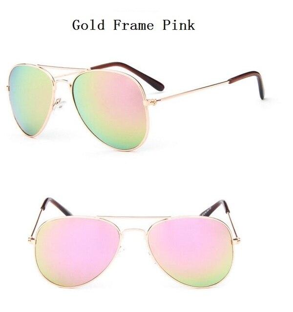 New Brand Designer Sun Glasses for Children Cool Mirror Reflective Metal Frame Kids Sunglasses Children's Glasses UV400 Sg121