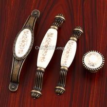 Top Designed 10PCS European Antique Kitchen Door Furniture Handles Ceramic Cupboard Wardrobe Drawer Cabinet Pulls Handles