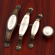 Top Designed 10PCS European Antique Kitchen Door Furniture Handles Ceramic Cupboard Wardrobe Drawer Cabinet Pulls Handles&Knobs
