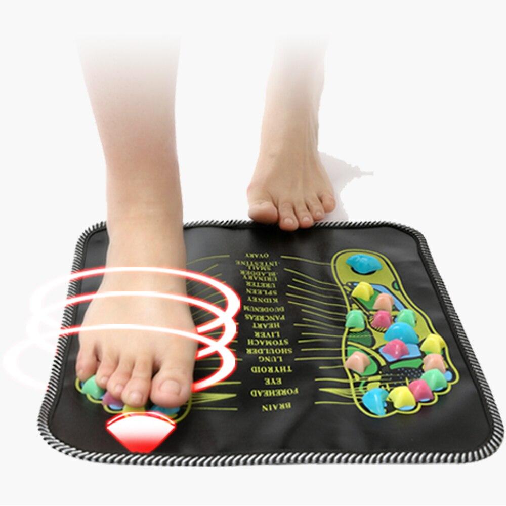 KONGDY 1 Peça de Paralelepípedos Acupuntura Colorido Pé Reflexologia Caminhada Pedra Pé Quadrado Almofada Massageador para Relaxar o Corpo