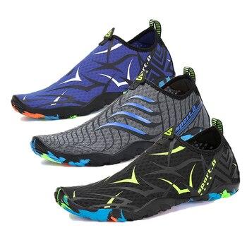 2b22710c519 Aqua zapatos de verano zapatos de agua zapatos de los hombres transpirable  natación buceo calcetines arriba zapatos de mujer playa de surf zapatillas  de ...