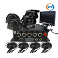 "4CH GPS H.264 I/O SD Vehicle Car DVR Recorder Real time Recording MDVR Rear Side Front View Car Truck Camera System + 7"" Monitor"