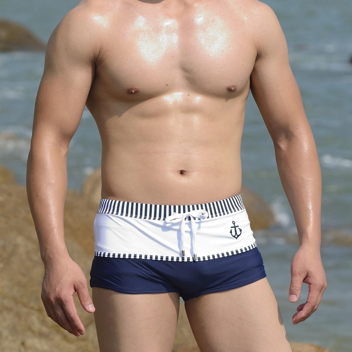 Man's Swim Short Brand Swimwear Men Flamingo Surf Wear Beach Short Plus Size Swimming For Male