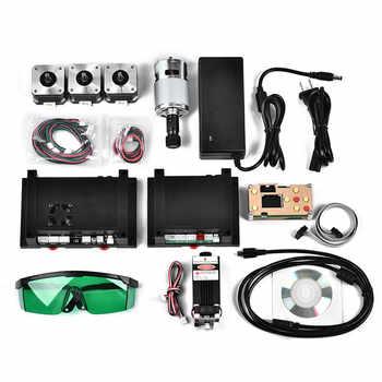 2.5W 450nm TTL PWM Control Blue Laser Module, DC 12V Focal Adjustable Laser Head, 100-240V Laser Head Engraving Module+goggles